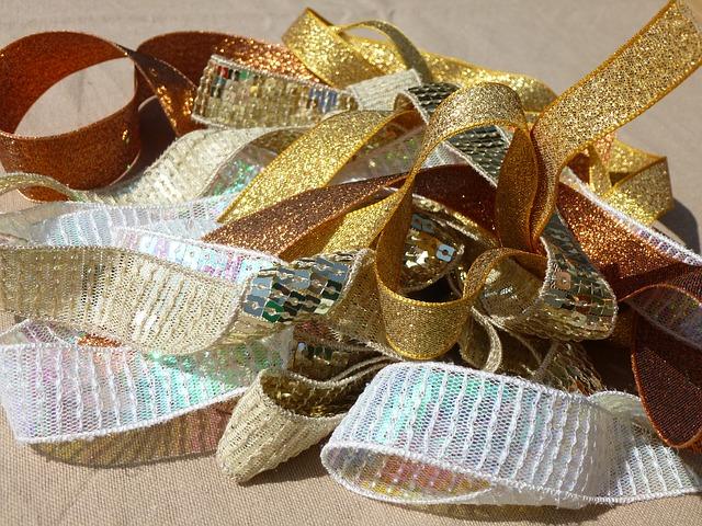 Free gold ribbon trims sewing haberdashery ribbon sew