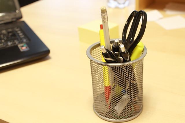 Free pens scissors table office