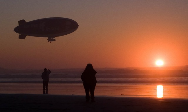 Free blimp beach evening sunset