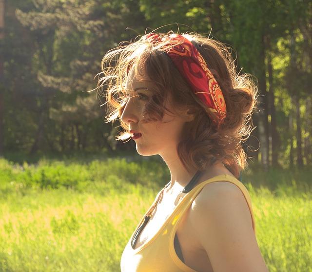 Free girl summer sun stroll sunset hair redhead