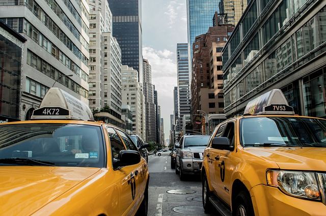 Free taxi cab traffic cab new york street road nyc