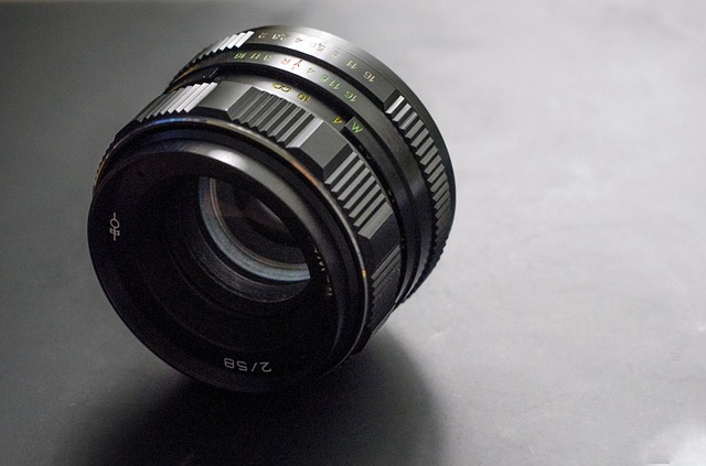 Free photography lens 50mm black focus glass aperture
