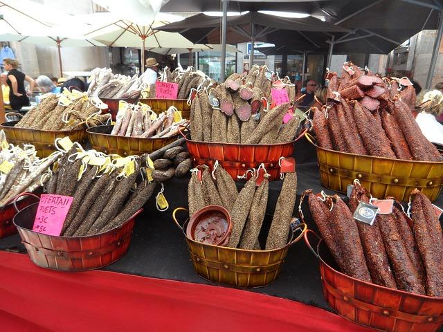 Free Photos: Cured meats mediterranean market market stall | M W