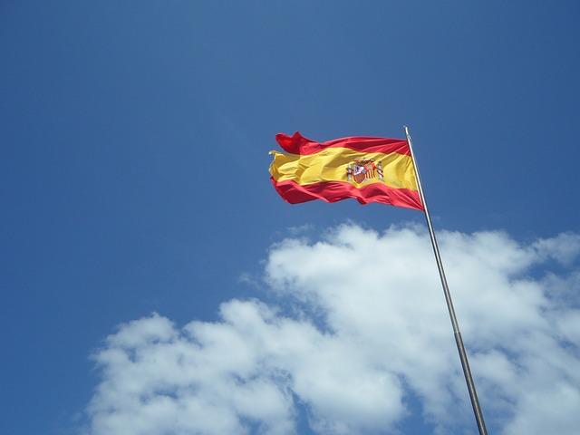 Free Photos: Spain flag flutter sky blue clouds wind windy | M W