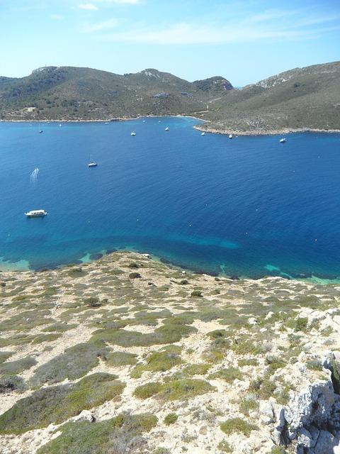 Free cabrera mediterranean sea coast holiday landscape