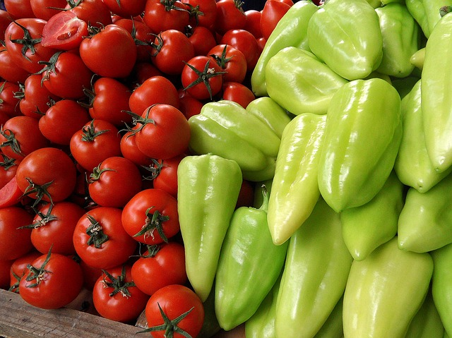 Free tomatoes peppers vegetables food market plants