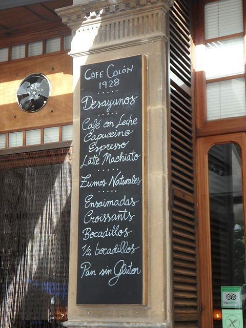 Free plate cafe pub map written chalk blackboard menu