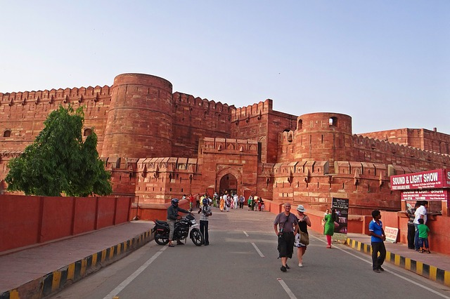 Free agra fort unesco world heritage main entrance