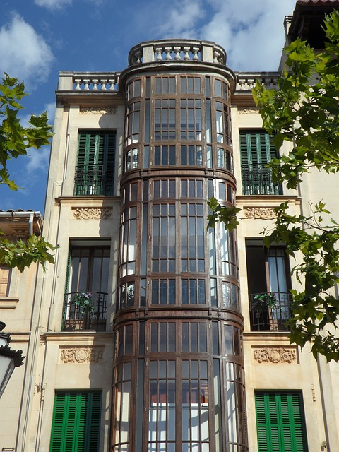 Free llucmajor art nouveau home building facade