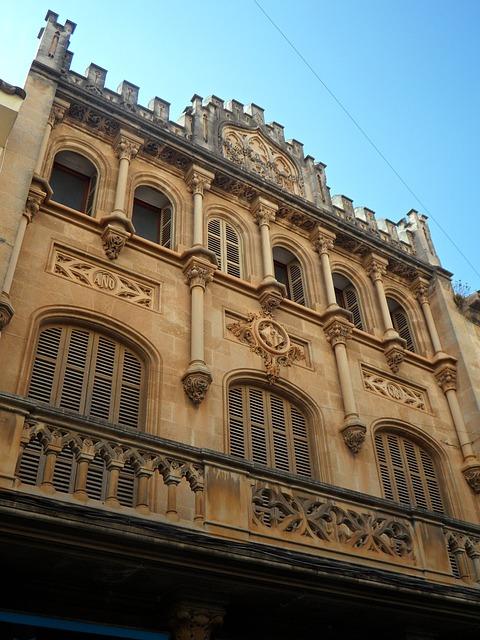 Free llucmajor facade building architecture home window