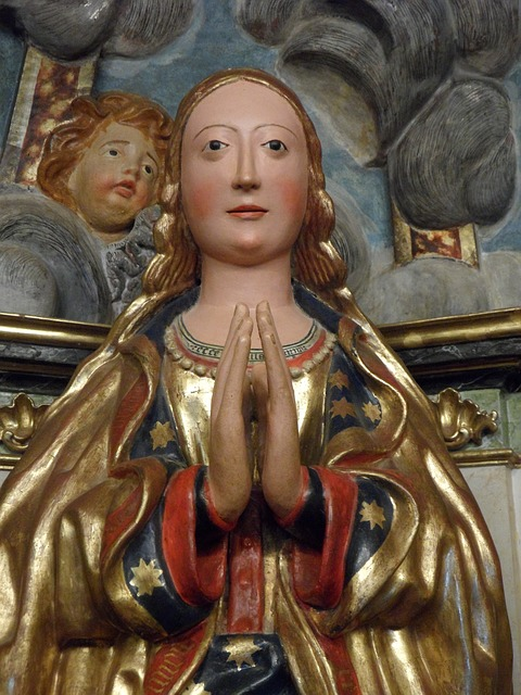 Free Photos: Virgin mary maria sculpture christianity fig | M W