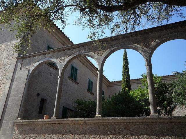 Free arches round arch arch garden monastery