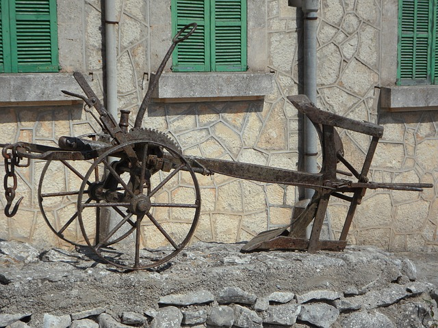 Free plough horse plow old plough rusted old plow