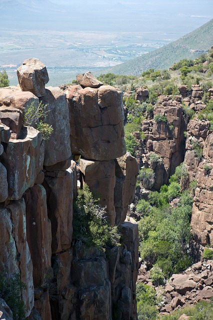 Free valley of desolation dolerite stacks south africa