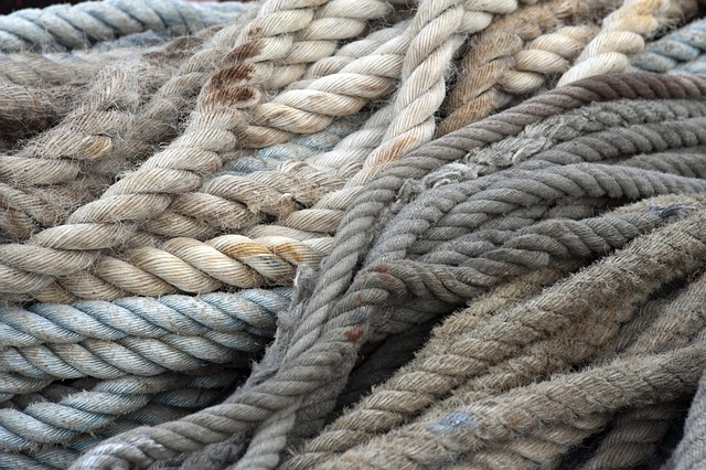 Free ropes old rope beige brown grey