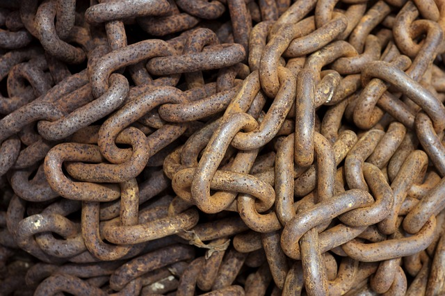 Free rusty chain chain rusty steel links steel links