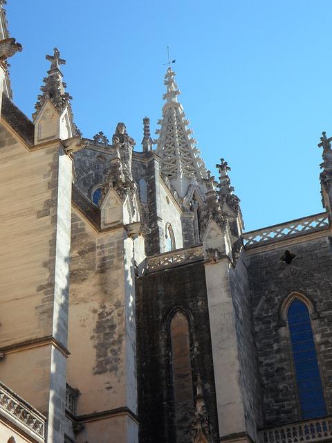 Free church facade architecture building spain