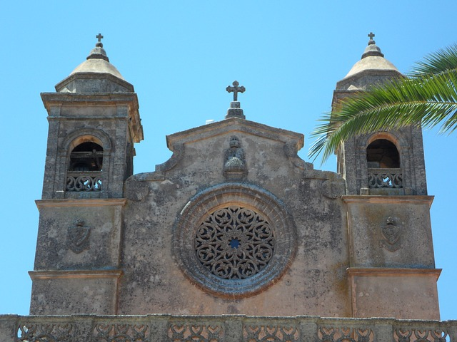 Free place of pilgrimage mallorca church facade