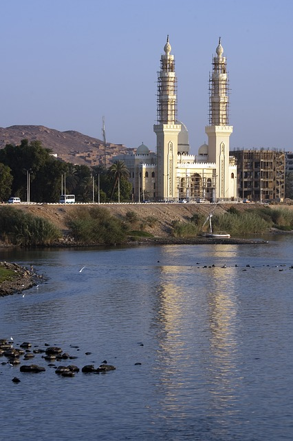 Free river nile aswan mosque construction architecture