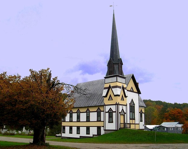 Free east corinth church steeple vermont fall spire