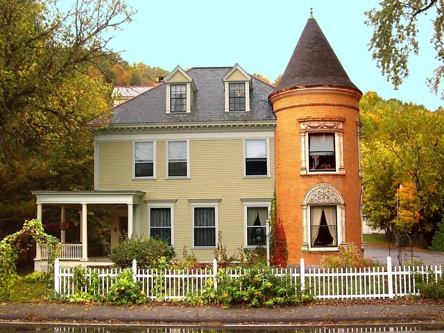 Free new england vermont colonial house fall historic