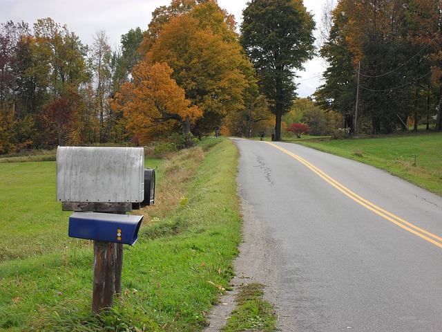 Free mailbox rural mail letters scene nature road