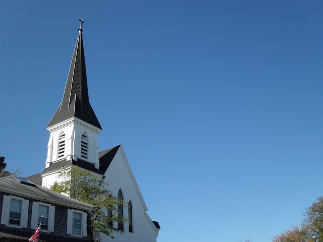 Free church new england steeple white architecture god