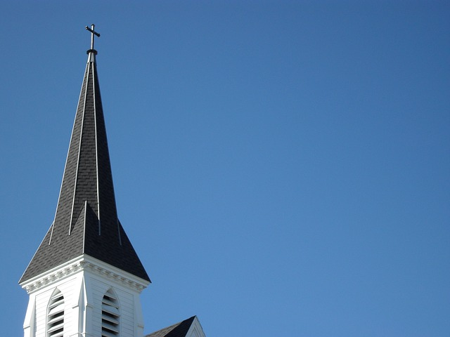 Free church steeple new england white architecture god