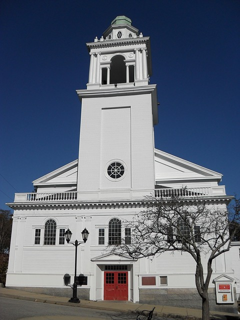 Free church white new england architecture faith