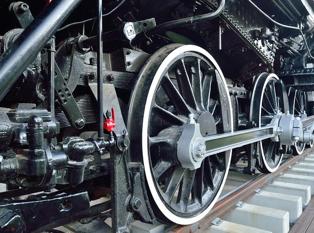 Free wheels old steam engine railroad locomotive