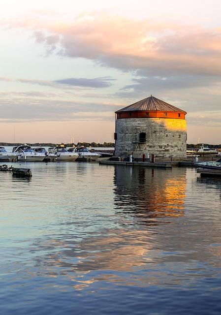 Free marina harbor kingston ontario water reflection