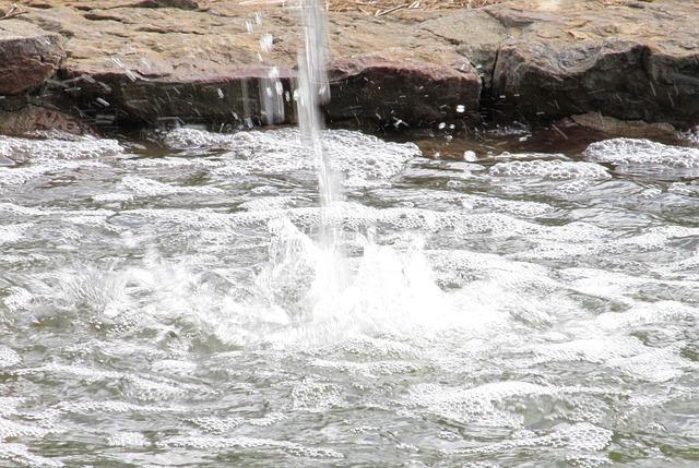 Free water splashing droplets splash liquid flow