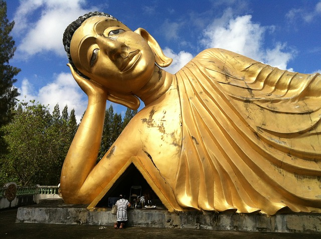 Free buddha figure golden big temple thailand phuket