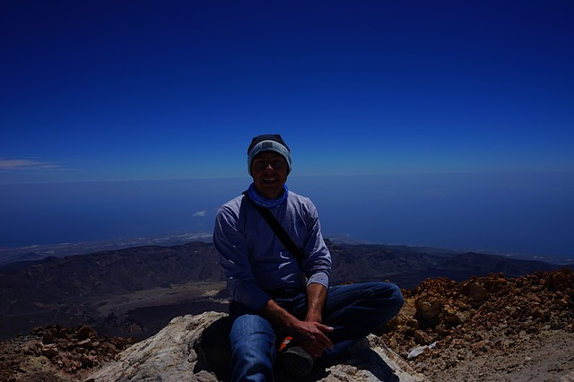 Free teide summit wanderer summit success mountaineering