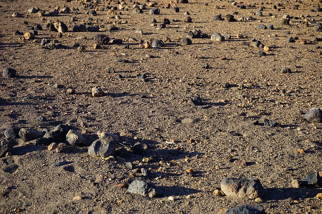 Free stone desert desert lunar landscape sand stones