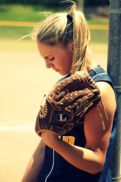 Free softball girl young player summer outdoor youth