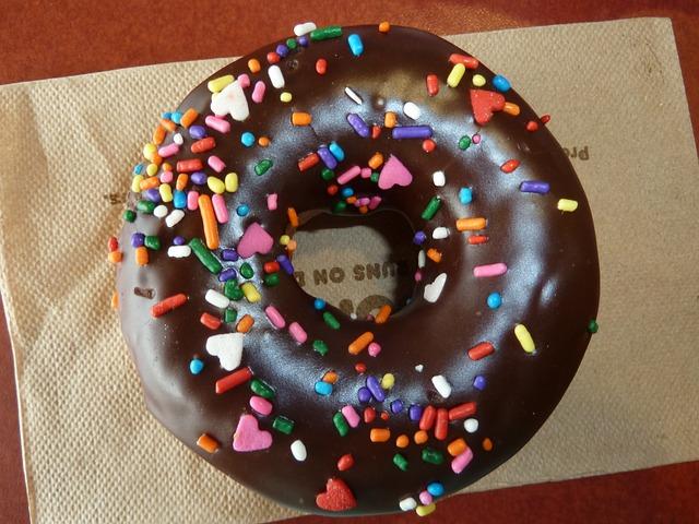 Free doughnut sprinkles chocolate dessert donut bakery