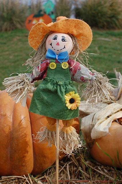 Free scarecrow pumpkins halloween harvest october cute
