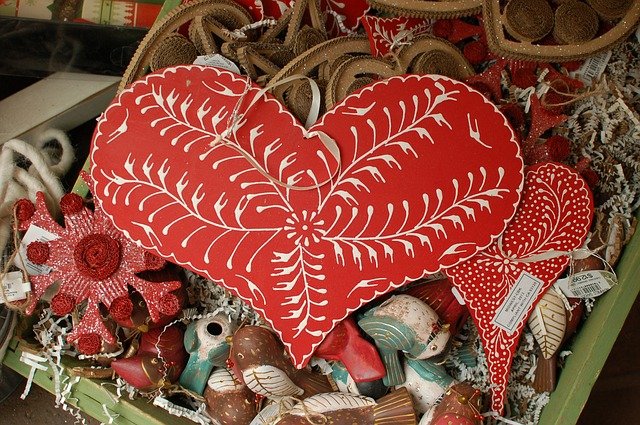 Free red heart country rustic wood crafts