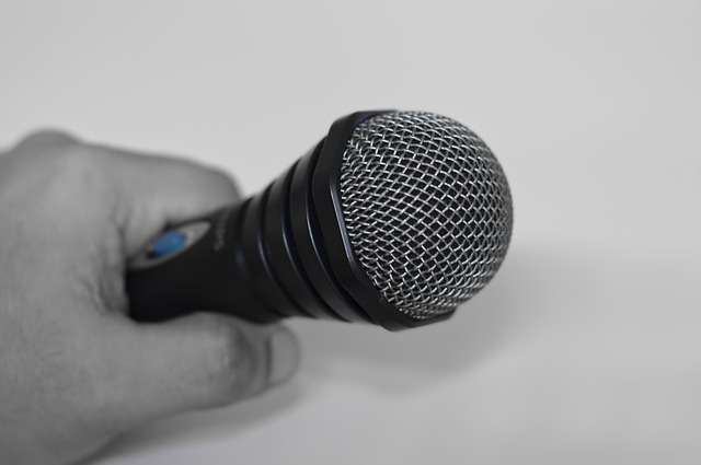 Free microphone hand holding microphone speaker sound