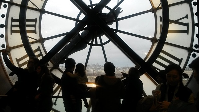 Free paris museum d'orsay clock old station