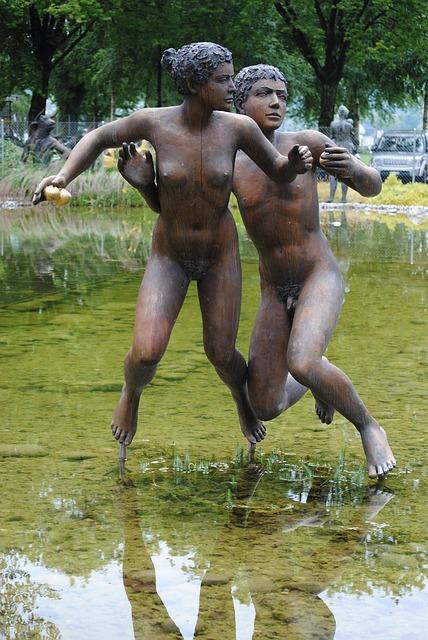 Free pair woman man sculpture artwork hans erni