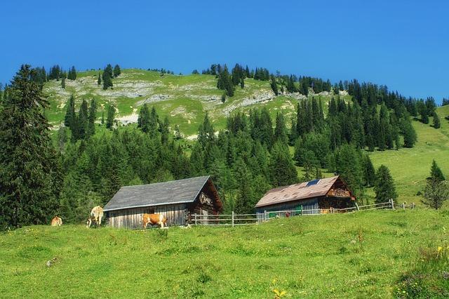 Free styria austria landscape scenic hill hillside
