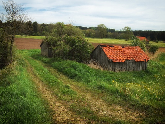 Free germany farm rural country countryside dirt lane