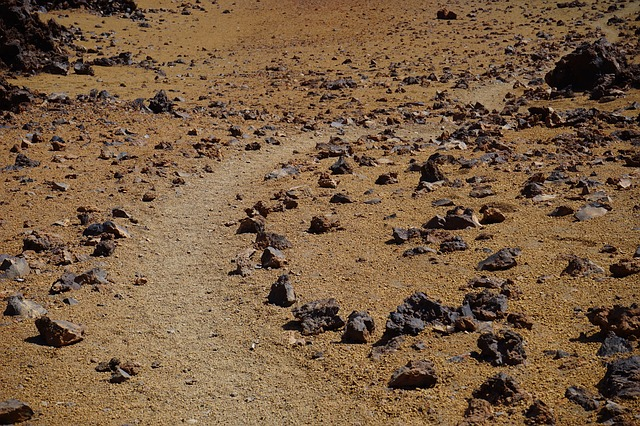 Free stones rock rocks away path trace sand desert