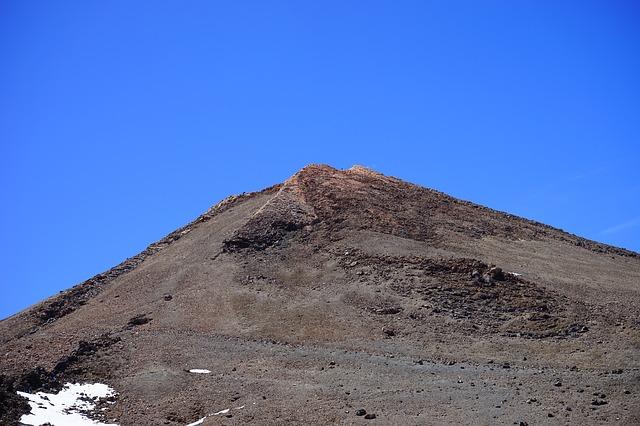 Free teide summit rise path lava lava flow basalt