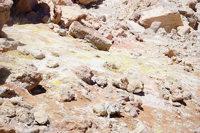Free sulfur volcano sulfur vapor sulphur field teide