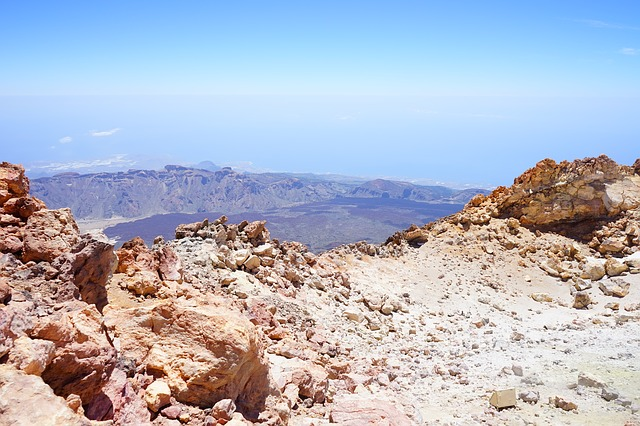 Free teide outlook distant view read cañadas caldera
