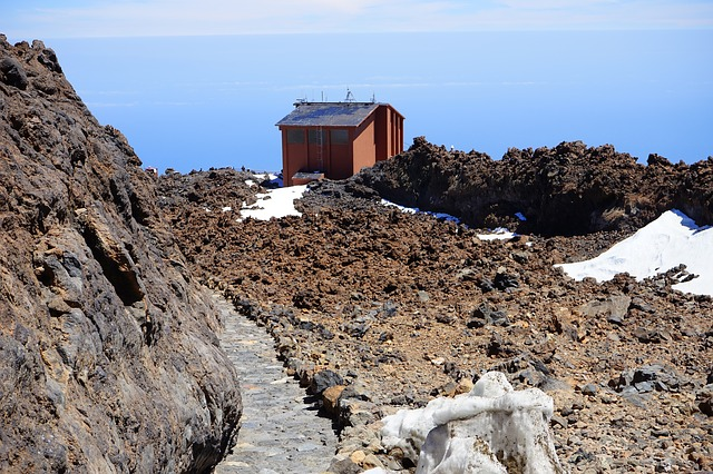Free teide descent away path station cable car station