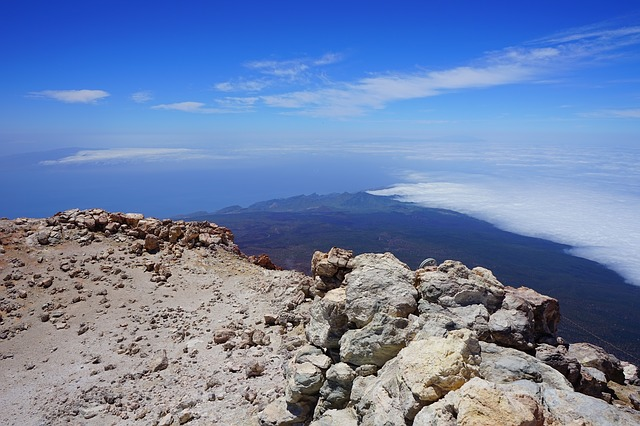 Free teide pico del teide summit volcanic crater crater